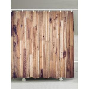 Wood Grain Design Waterproof Shower Curtain