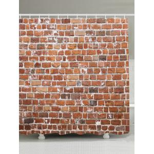 Brick Wall Design Eco-Friendly Shower Curtain