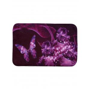 Soft Absorbent Mew Butterfly Area Rug - Violet - 40*60cm