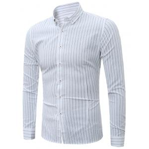 Vertical Striped Button Down Linen Shirt