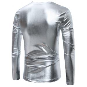 Длинные рукава Metallic T-Shirt - Серебристый 2XL