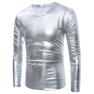 Long Sleeve Metallic T-Shirt