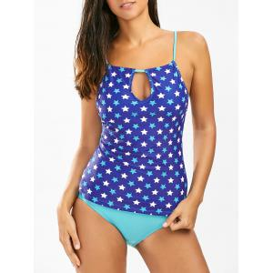 Star Print High Waisted Tankini Swimsuit
