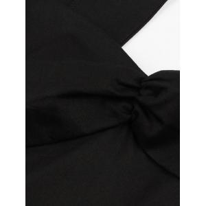 Vintage Cut Out Swing Pin Up Flare Dress - BLACK XL