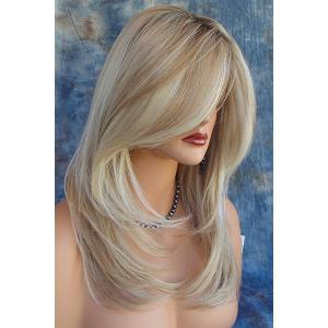 Charming Synthetic Mixed Color Long Fluffy Wig For Women -
