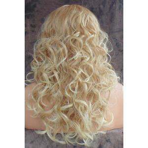 Shaggy Curly Long Capless Charming Blonde Heat Resistant Synthetic Wig For Women - LIGHT GOLD