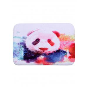 Colormix Panda Print Coral Fleece Decorative Bath Mat