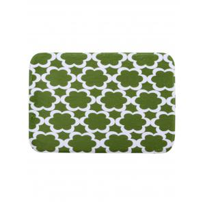 Morocco Style Pattern Coral Fleece Bath Mat