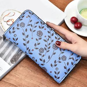 Zip Around Floral Print Clutch Wallet -