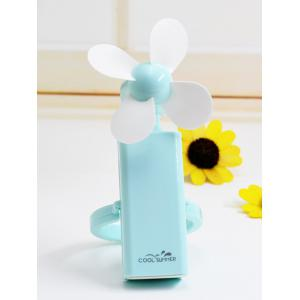 Portable USB Rechargeable Office Mini Handheld Fan - Blue