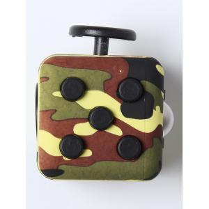 Balle anti-stress Mini camouflage Fidget Cube - VERT D'ARMEE Camouflage