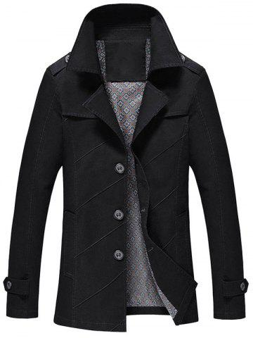 Unique Slim Fit Lapel Collar Jacket - 2XL BLACK Mobile