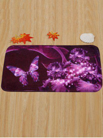 Hot Soft Absorbent Mew Butterfly Area Rug - 40*60CM VIOLET Mobile