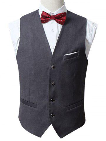 Chic Slim Fit Button Up Formal Waistcoat