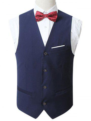 Shop Slim Fit Button Up Formal Waistcoat