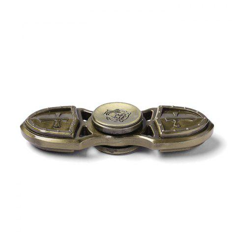 Store Focus Toy Cross Shield Rotating Finger Gyro - BRONZE-COLORED  Mobile