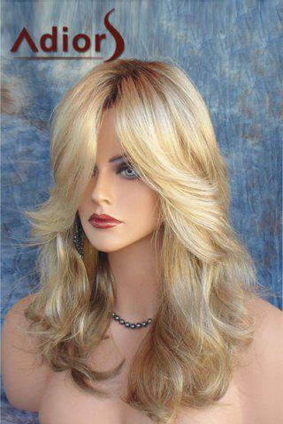 New Adiors Side Parting Shaggy Long Layered Wavy Color Mixed Synthetic Wig COLORMIX