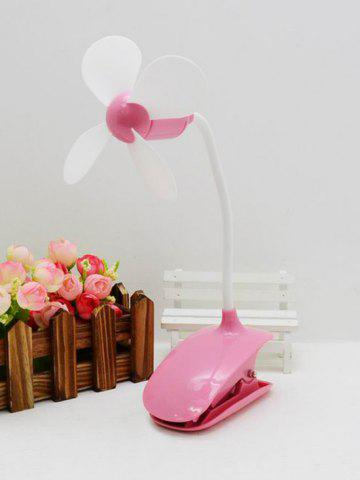 Bureau Portable Mini USB rechargeable clip ventilateur ROSE PÂLE