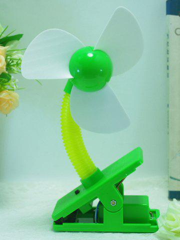 Big Wind USB portable rechargeable Clip Mini ventilateur Vert
