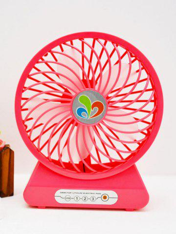 Home Office USB réglable Vitesse du vent Mini ventilateur de bureau Rouge