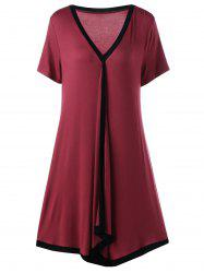 Asymmetric Ringer Plus Size T-Shirt Casual Dress