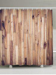 Wood Grain Design Waterproof Shower Curtain - WOOD