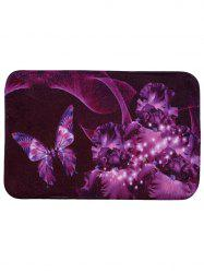Soft Absorbent Mew Butterfly Area Rug