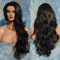Long Big Wavy Side Parting Synthetic Wig