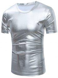 Short Sleeve Metallic T-Shirt