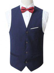 Slim Fit Button Up Formal Vest
