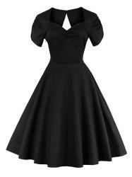 Vintage Cut Out Pin Up Flare Dress