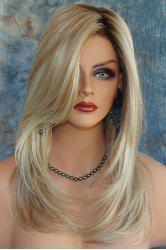 Charming Synthetic Mixed Color Long Fluffy Wig For Women