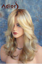 Adiors Side Parting Shaggy Long Layered Wavy Color Mixed Synthetic Wig