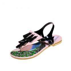 Patent Leather Tassels Sandals