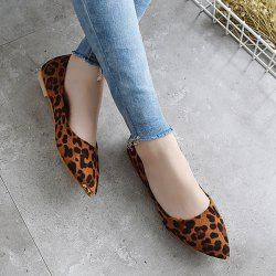 Metal Toe Slip On Flat Shoes