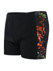 Drawstring Graphic Swim Shorts