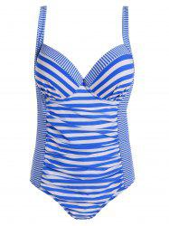 Stripe Underwire Plus Size Swimsuit