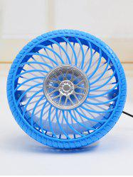 Portable USB Rechargeable Tire Shape Mini Desk Fan