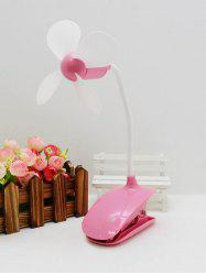 Bureau Portable Mini USB rechargeable clip ventilateur - ROSE PÂLE