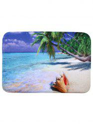 Beach Style Coral Fleece Rectangle Decorative Bath Mat - COLORMIX