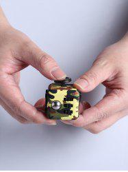 Mini Camouflage Stress Reliever Cube Toy - ARMY GREEN CAMOUFLAGE