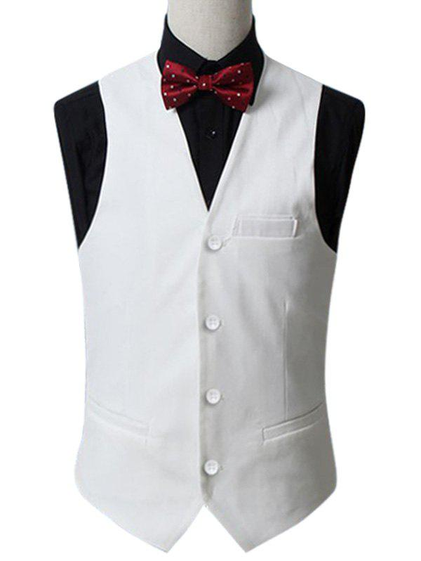Online Slim Fit Button Up Formal Waistcoat