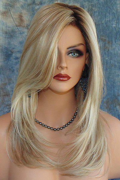 Charming Synthetic Mixed Color Long Fluffy Wig For WomenHAIR<br><br>Color: COLORMIX; Type: Full Wigs; Cap Construction: Capless; Style: Curly; Material: Synthetic Hair; Bang Type: Side; Length: Long; Length Size(CM): 50; Weight: 0.2150kg; Package Contents: 1 x Wig;