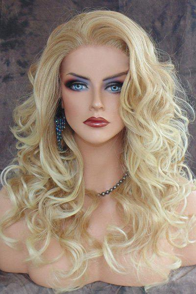Discount Shaggy Curly Long Capless Charming Blonde Heat Resistant Synthetic Wig For Women