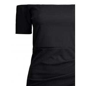 Mini Off The Shoulder Bodycon Bandage Dress - BLACK XL