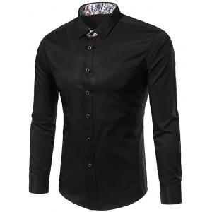 Long Sleeve Floral Detail Shirt