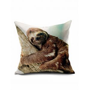 Smile Sloth Home Decoration Throw Pillow Case - Brown - 45*45cm