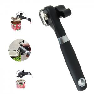Multifunction Food Can Manual Can Opener - Black
