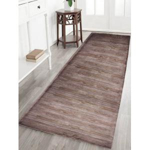 Wood Grain Antiskid Flannel Bath Rug