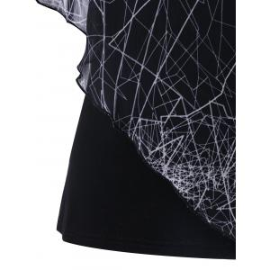 T-shirt superposition graphique -
